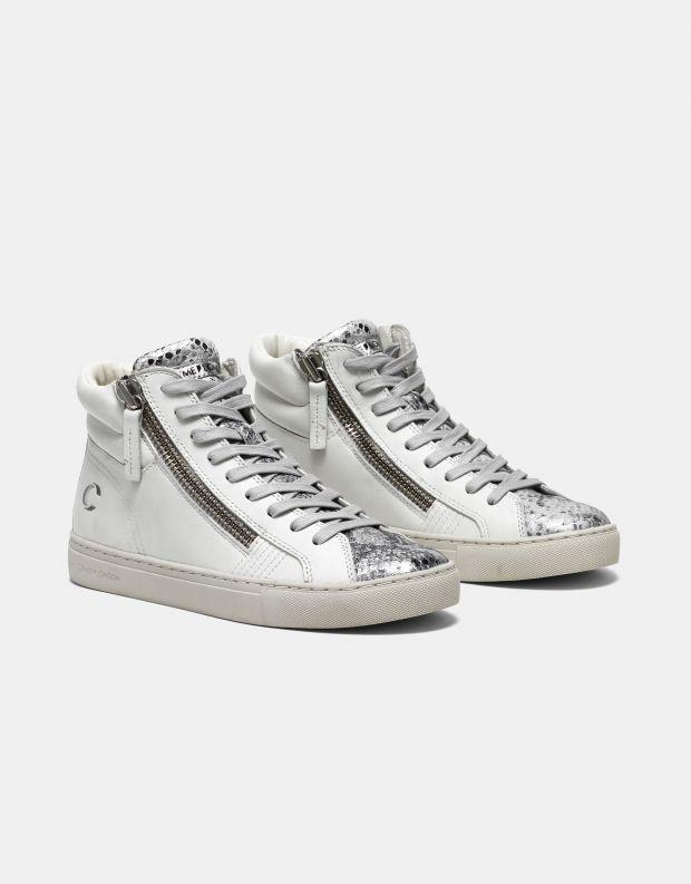 נעלי נשים - Crime London - סניקרס JAVA HI - לבן