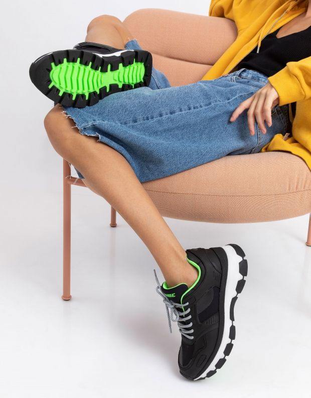 נעלי נשים - Crime London - סניקרס JUPITER - שחור