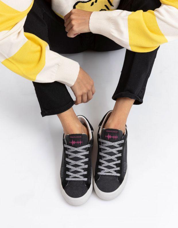 נעלי נשים - Crime London - סניקרס SOUL נוצץ - שחור נצנצים