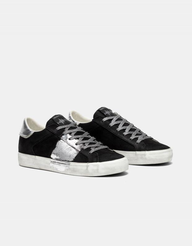 נעלי נשים - Crime London - סניקרס SOUL פס צד - שחור