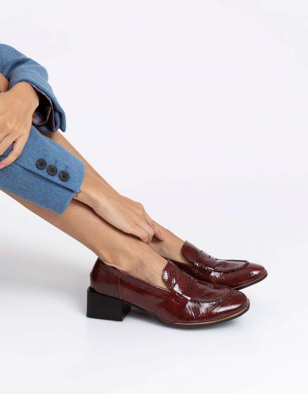 נעלי נשים - Yuko Imanishi - נעלי עור RURI - בורדו