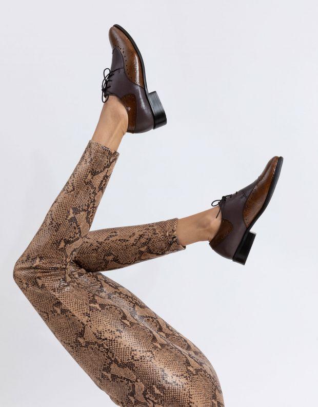 נעלי נשים - Yuko Imanishi - נעלי אוקספורד MARIKA - חציל
