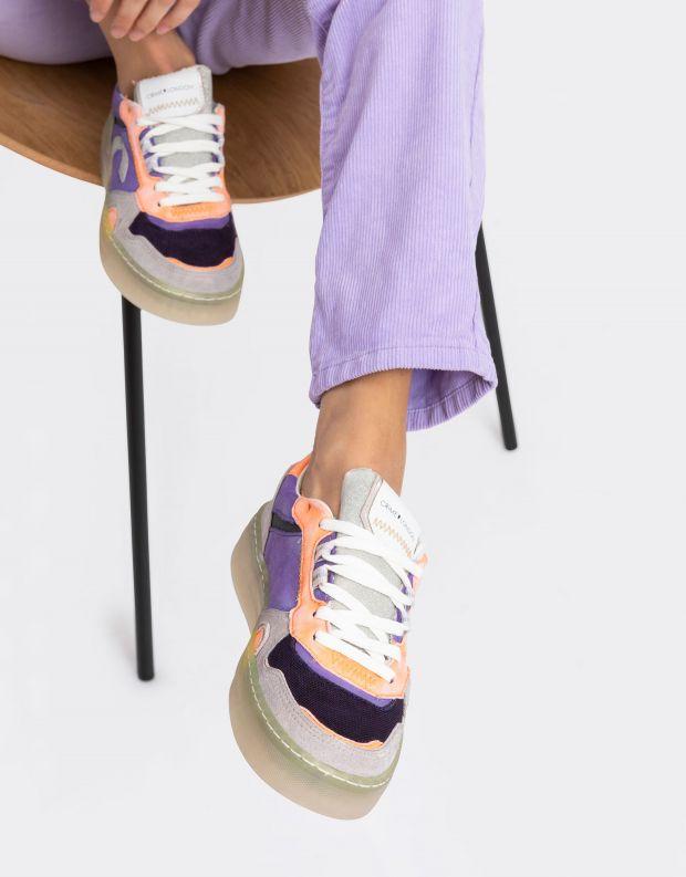 נעלי נשים - Crime London - סניקרס DRIBBLE צבעוני - סגול
