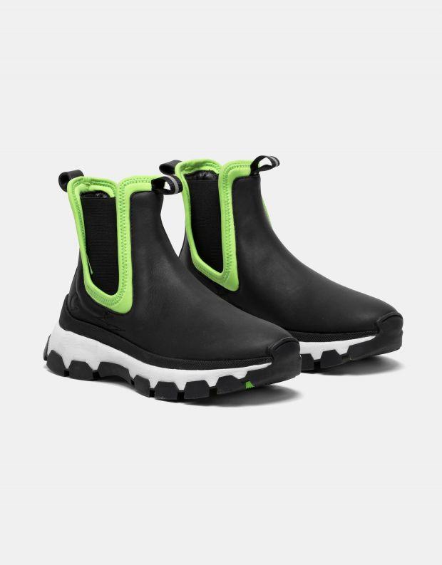 נעלי נשים - Crime London - מגפוני פלטפורמה ILLUDE - שחור ירוק