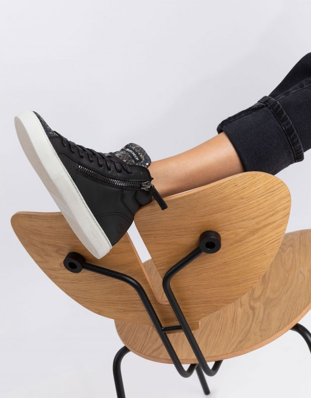 נעלי נשים - Crime London - סניקרס JAVA HI - שחור
