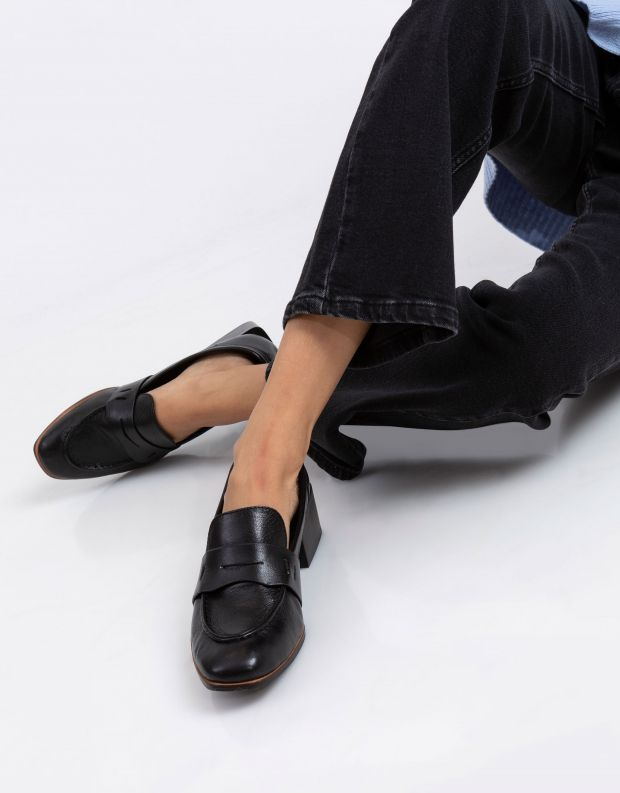 נעלי נשים - Yuko Imanishi - נעלי עור RURI - שחור