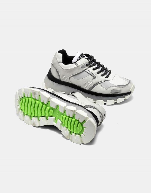 נעלי נשים - Crime London - סניקרס JUPITER - לבן