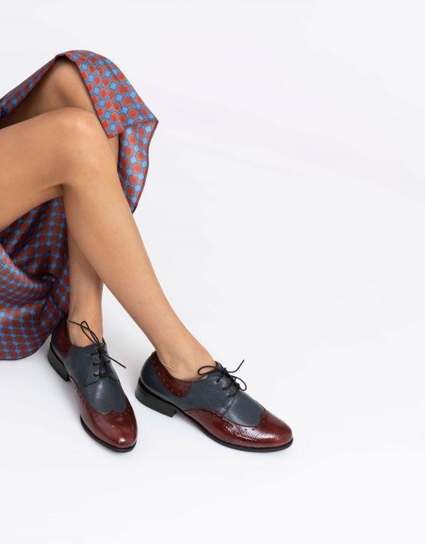 נעלי נשים - Yuko Imanishi - נעלי אוקספורד MARIKA - כחול
