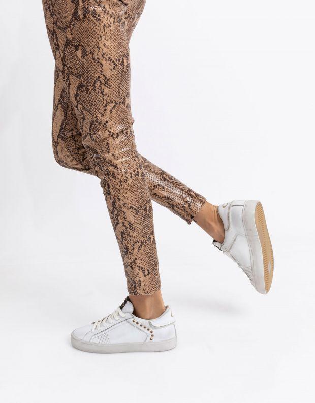נעלי נשים - Crime London - סניקרס SOUL ניטים - לבן
