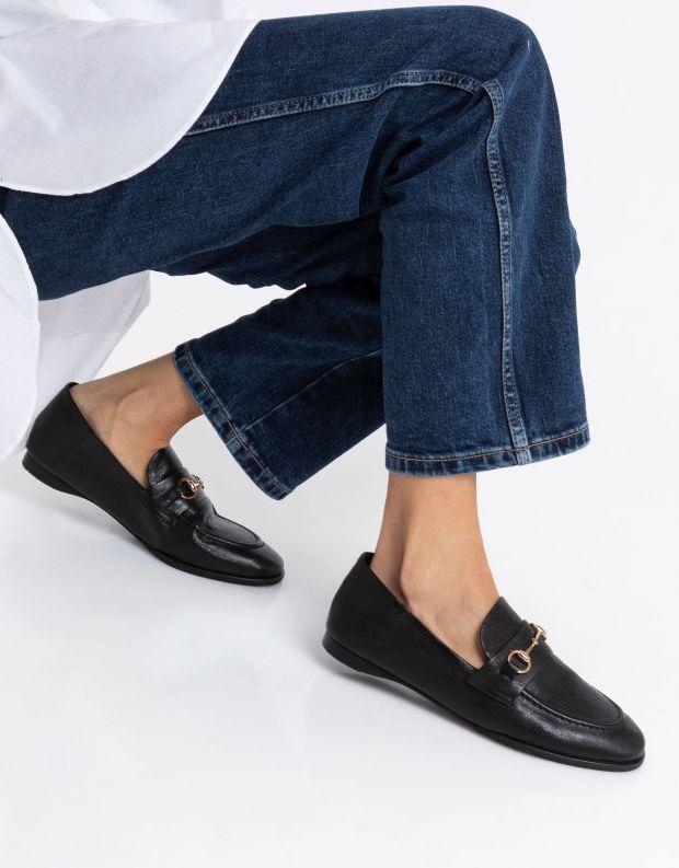 נעלי נשים - Yuko Imanishi - נעלי מוקסינים SACHI - שחור