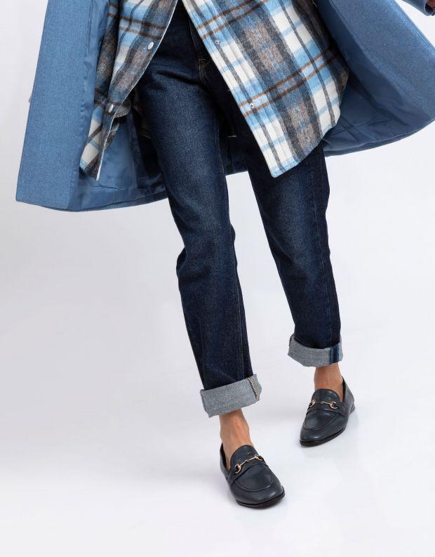 נעלי נשים - Yuko Imanishi - נעלי מוקסינים SACHI - כחול