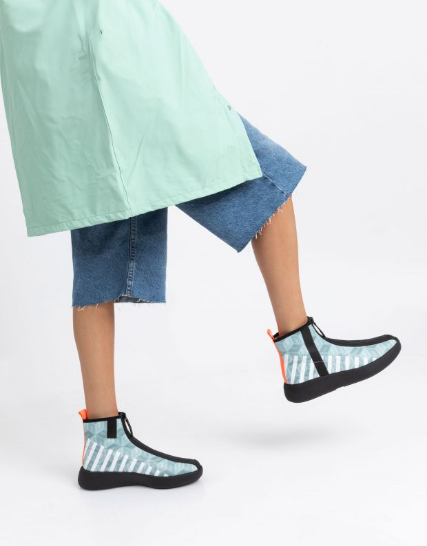 נעלי נשים - United Nude - מגפונים עם רוכסן BO CALLI - מנטה