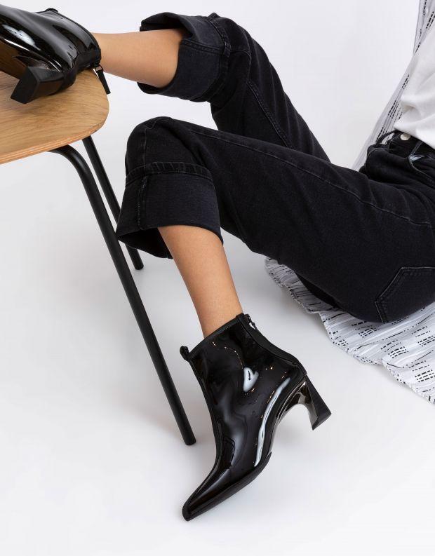 נעלי נשים - United Nude - מגפוני עקב לק LUCID MOLTE - שחור