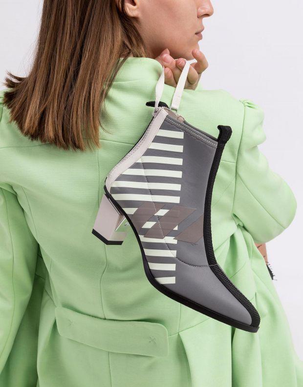נעלי נשים - United Nude - מגפוני עקב LEV CALLI MID - אפור