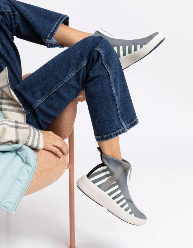 נעלי נשים - United Nude - מגפונים עם רוכסן BO CALLI - אפור