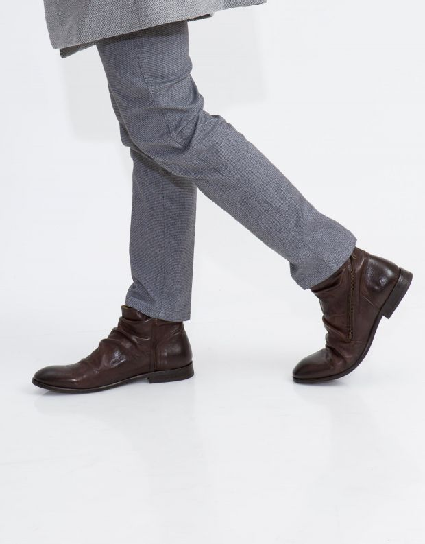 נעלי גברים - Hudson - מגפון NOEL עור - חום