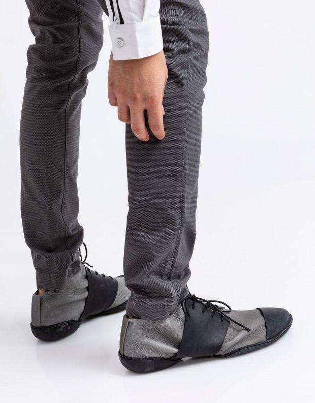 נעלי גברים - Trippen - נעל BILL CUP - אפור   שחור