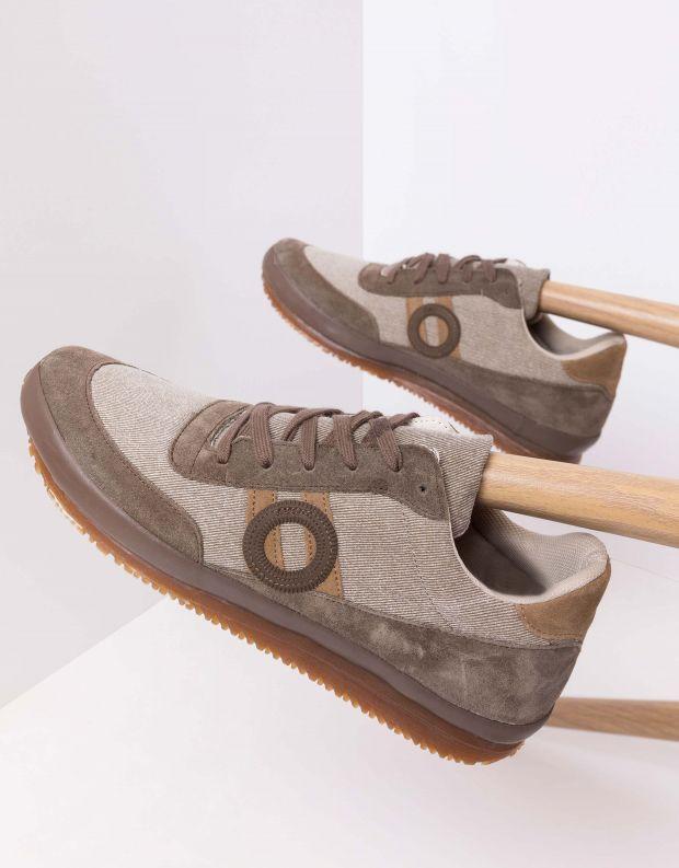 נעלי גברים - Aro - סניקרס ג'ינס JAQ - חום
