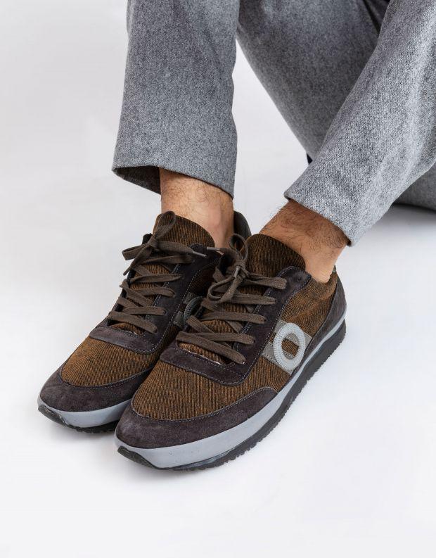 נעלי גברים - Aro - סניקרס ג'ינס JAQ - אפור