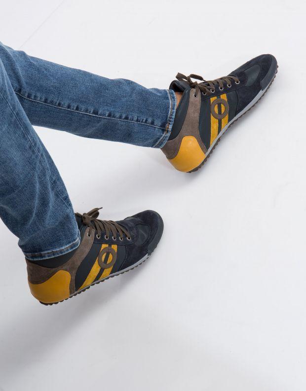 נעלי גברים - Aro - סניקרס גבוה IDO - כחול   כתום