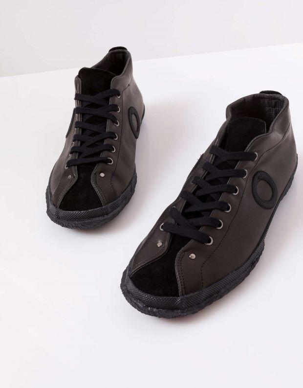 נעלי גברים - Aro - נעלי עור וזמש WILLY - שחור