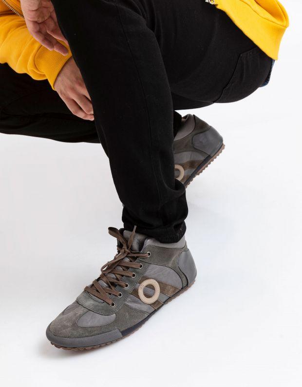 נעלי גברים - Aro - סניקרס גבוה IDO - אפור בהיר