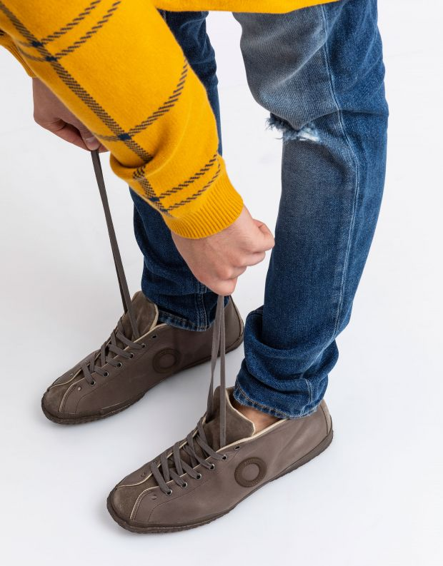 נעלי גברים - Aro - נעלי עור וזמש WILLY - חום בהיר