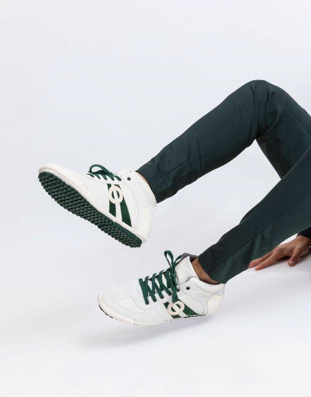 נעלי גברים - Aro - סניקרס גבוה IDO - לבן   ירוק