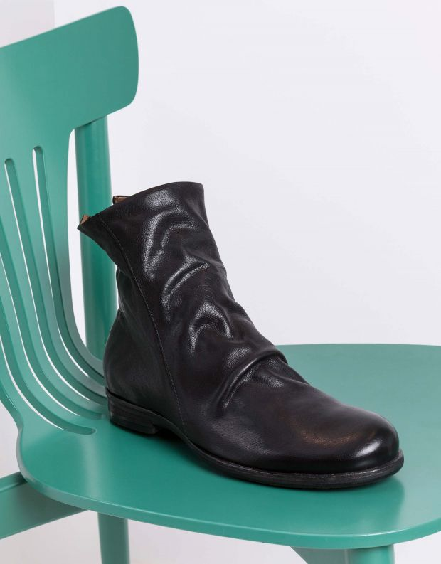 נעלי גברים - A.S. 98 - מגפי עור TRY - שחור