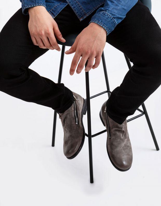נעלי גברים - A.S. 98 - מגפיים עם רוכסנים TRY - אפור
