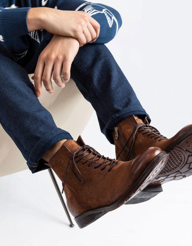 נעלי גברים - A.S. 98 - נעליים גבוהות CLASH - חום