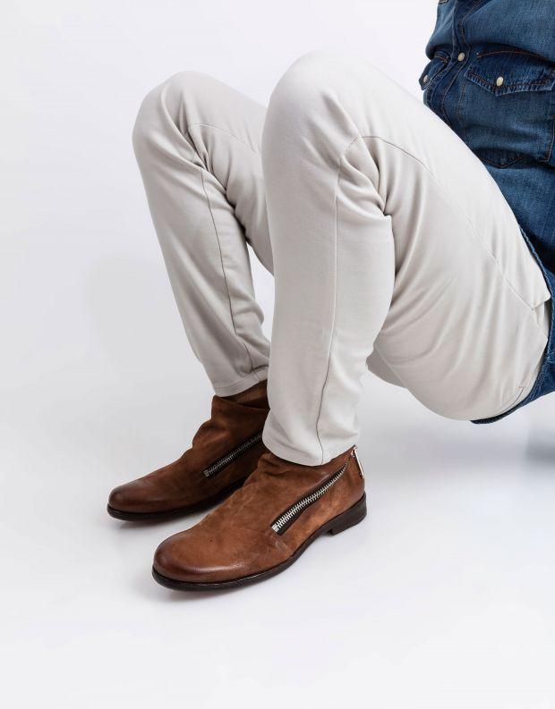 נעלי גברים - A.S. 98 - מגפיים עם רוכסנים TRY - חום