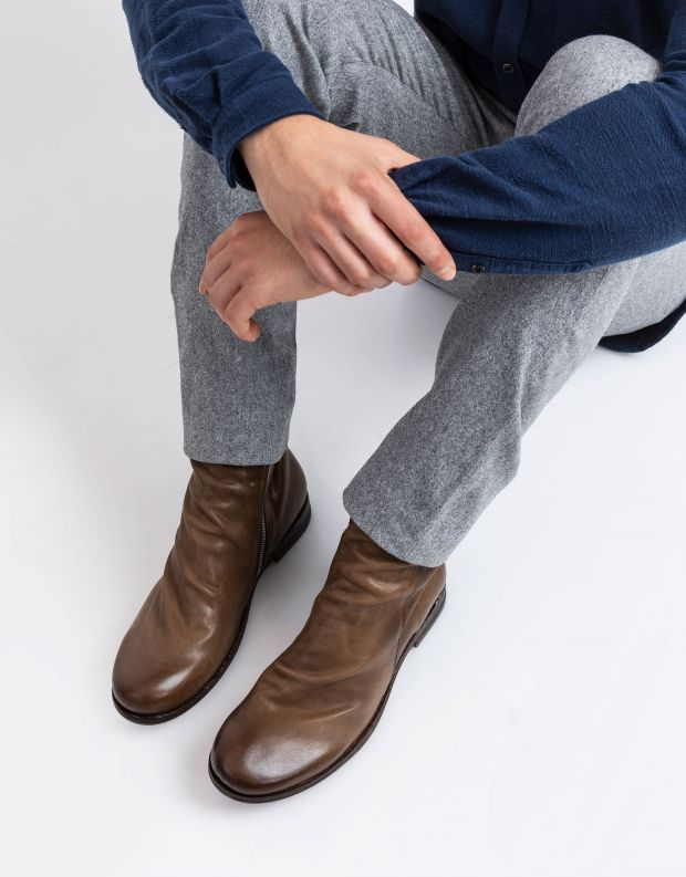 נעלי גברים - A.S. 98 - מגפי עור TRY - חום