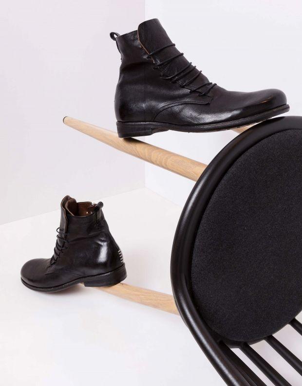 נעלי גברים - A.S. 98 - מגפיים עם שרוכים TRY - שחור