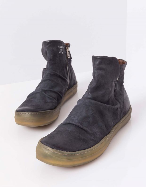 נעלי גברים - A.S. 98 - מגפי עור SAGIT - אפור