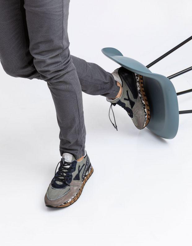 נעלי גברים - A.S. 98 - סניקרס SNAP - אפור   שחור