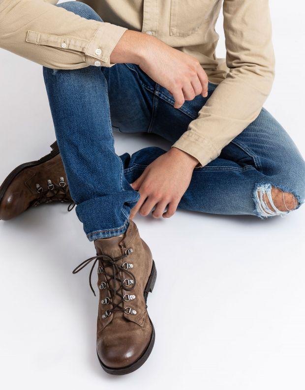נעלי גברים - A.S. 98 - נעליים עם לולאות ACTON - חום בהיר