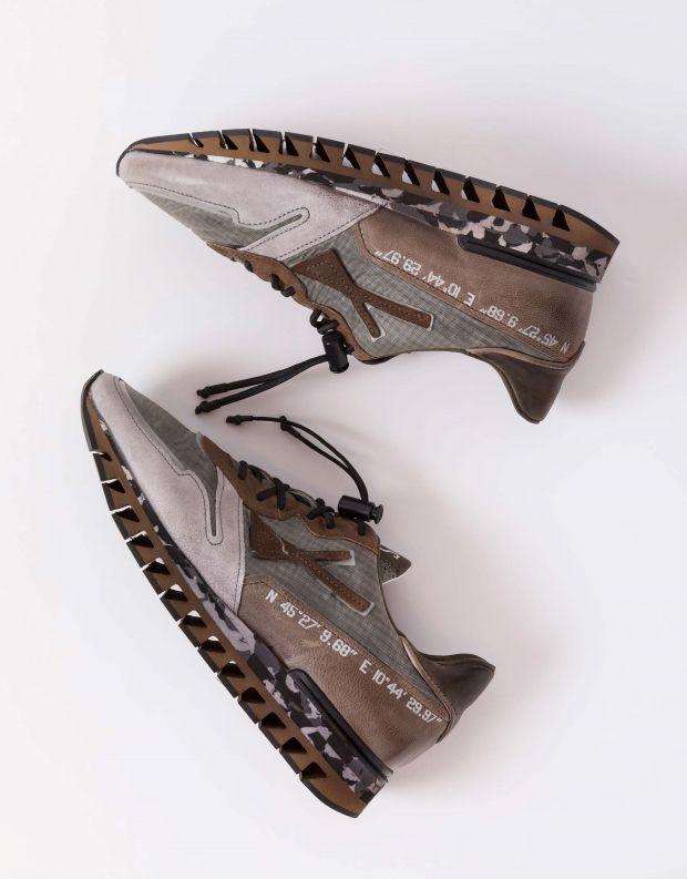 נעלי גברים - A.S. 98 - סניקרס SNAP - אפור   חום
