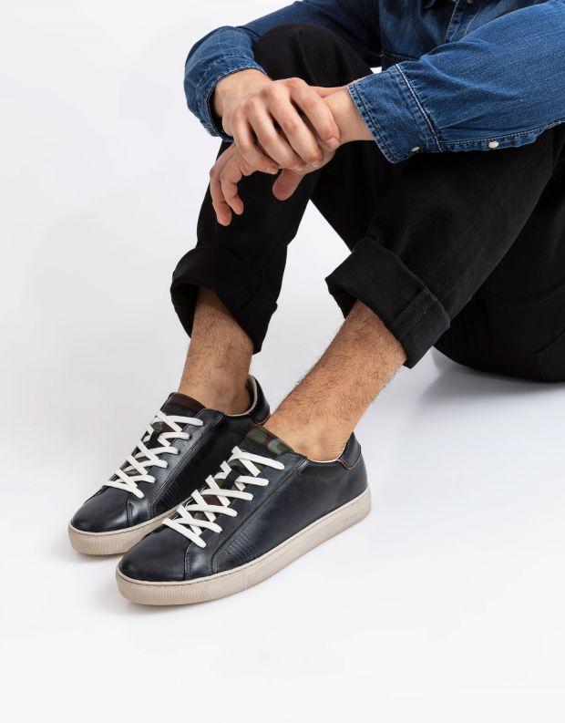 נעלי גברים - Crime London - סניקרס BEAT שרוך כפול - שחור