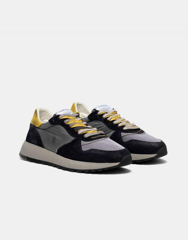נעלי גברים - Crime London - סניקרס DIFFER צבעוני - שחור צהוב