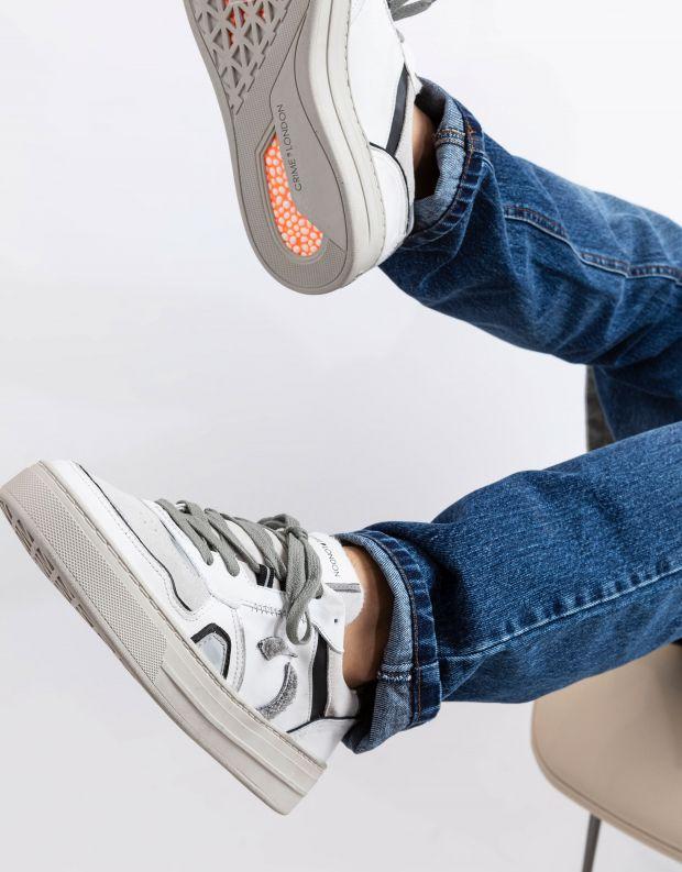 נעלי גברים - Crime London - סניקרס DRIBBLE - לבן