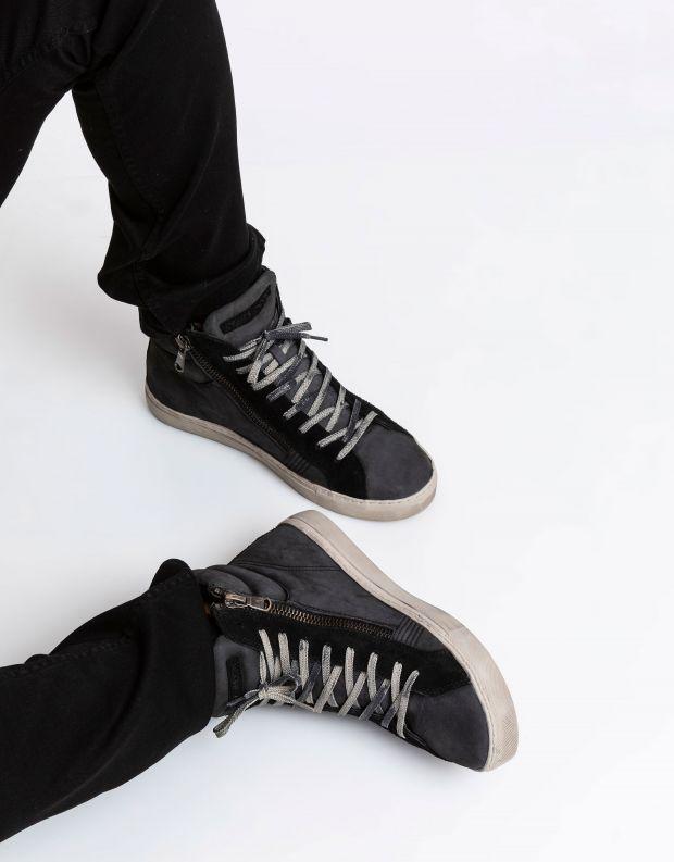 נעלי גברים - Crime London - סניקרס JAVA HI - אפור