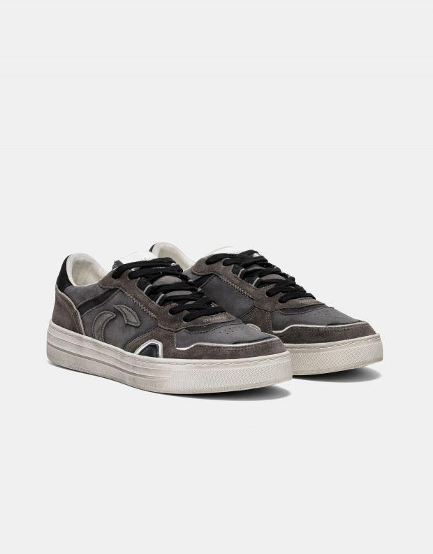 נעלי גברים - Crime London - סניקרס DRIBBLE - אפור