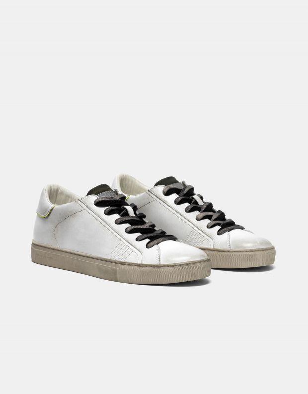 נעלי גברים - Crime London - סניקרס BEAT שרוך כפול - לבן