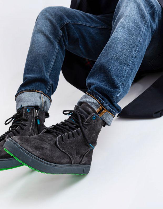 נעלי גברים - Satorisan - נעל HIDA - אפור כהה