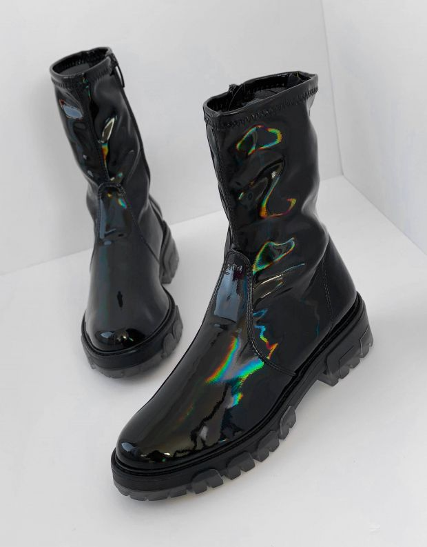 נעלי נשים - NR Rapisardi - מגפונים INA PATENT - שחור