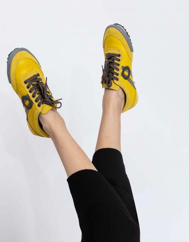 נעלי נשים - Aro - סניקרס IDO - צהוב