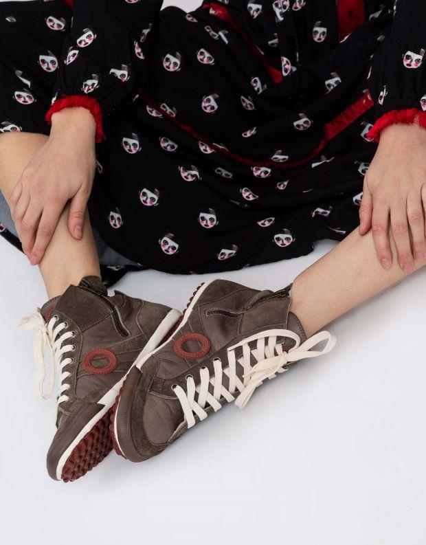 נעלי נשים - Aro - סניקרס גבוה IDO B - חום בהיר