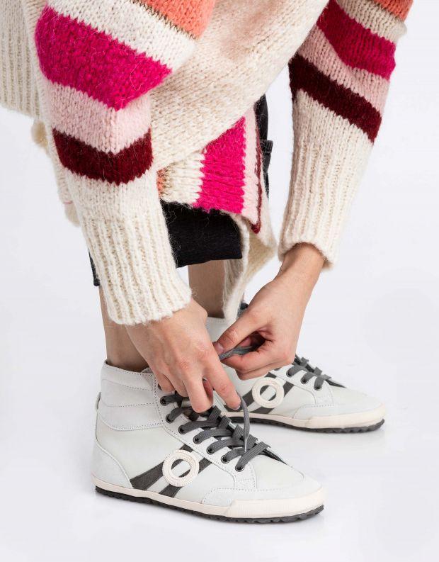 נעלי נשים - Aro - סניקרס גבוה IDO B - לבן   אפור