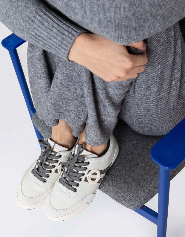 נעלי נשים - Aro - סניקרס IDO - לבן   אפור